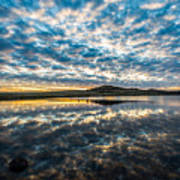 Cloudscape - Reflection Of Sky In Wichita Mountains Oklahoma Art Print