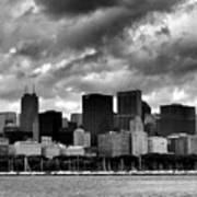 Cloudy Day Chicago - 2 Art Print