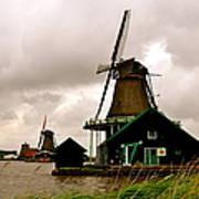 Cloudy Holland Art Print