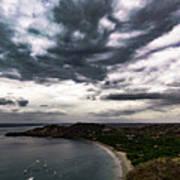 Cloudy Ocean View Art Print