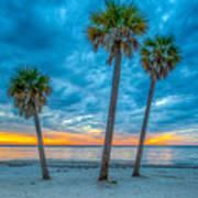 Cloudy Sunset -tampa, Florida Art Print