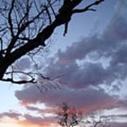 Cloudy Sunset Two Art Print