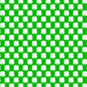 Clover Titled  - Pattern Art Print