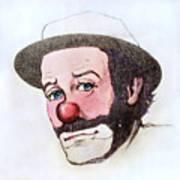 Clown Emmett Kelly Art Print
