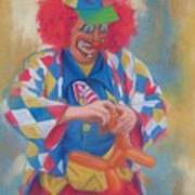 Clown Making Balloon Animals Art Print