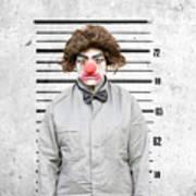 Clown Mug Shot Art Print