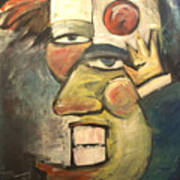 Clown Painting Art Print