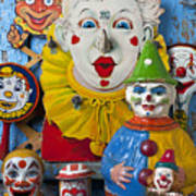 Clown Toys Art Print by Garry Gay