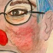Clown With Glasses Art Print