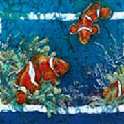 Clowning Around - Clownfish Art Print
