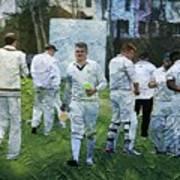 Club Cricket Tea Break Art Print
