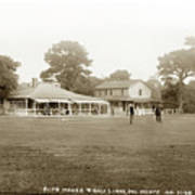 Club House And Golf Links, Old Del Monte, Monterey, California Circa 1920 Art Print