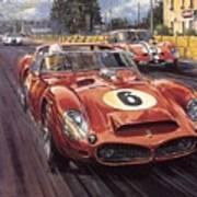 Cma 051 1962 Le Mans Ferrari 330 Driver Phil Hill Roy Rob Art Print