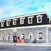 CN Station Belleville Circa 1856 Art Print