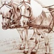 Coach Horses Art Print