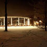 Coady International Institute Winter Night Nova Scotia Art Print