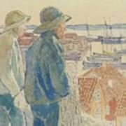 Coast Fishermen Art Print