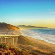 Coast Highway Del Mar Art Print