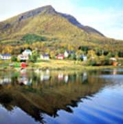 Coast Of Norway Reflections Art Print
