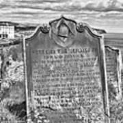 Coast - Whitby Freemason Grave Art Print