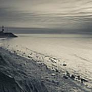 Coast With A Lighthouse Art Print