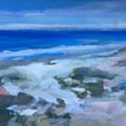 Coastal Blues Art Print
