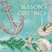 Coastal Christmas 4 Art Print