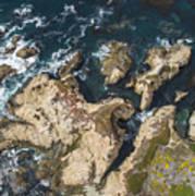 Coastal Crevices Art Print