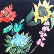 Coastal Floral Art Print