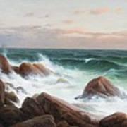 Coastal Landscape. Art Print