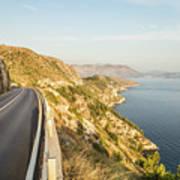 Coastal Road Near Dubrovnik In Croatia Art Print