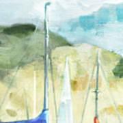Coastal Sails Art Print