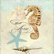 Coastal Waterways - Seahorse Rectangle 2 Art Print