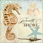 Coastal Waterways - Seahorse Serenity Art Print