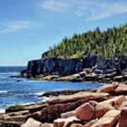 Coastline And Otter Cliff 3 Art Print