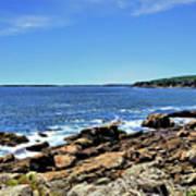 Coastline At Otter Point 5 Art Print