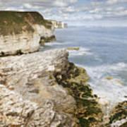 Coastline Viewed From Thornwick Bay Flamborough Art Print