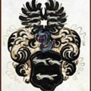 Coat Of Arms Black Art Print