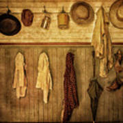 Coat Room At The Old Schoolhouse Art Print