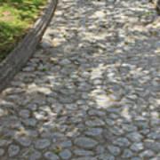 Cobblestone Path In A Park Art Print