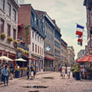 Cobblestone Streets In Old Montreal  Art Print
