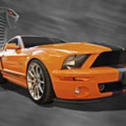 Cobra Power - Shelby Gt500 Mustang Art Print