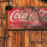 Coca Cola Barn Art Print