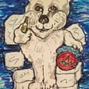 Coca Cola Bear Art Print