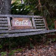 Coca Cola Bench Art Print