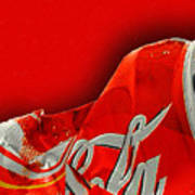 Coca-cola Can Crush Red Art Print