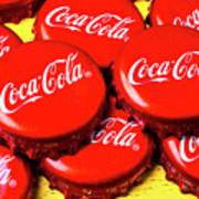 Coca Cola Caps Art Print