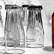 Coca-cola Glasses And Can - Selective Color By Kaye Menner Art Print