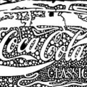 Coca-cola Maze Advertisement  Art Print