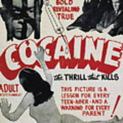 Cocaine Movie Poster, 1940s Art Print